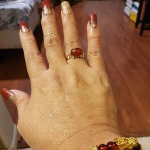 New Agate Gold Ring